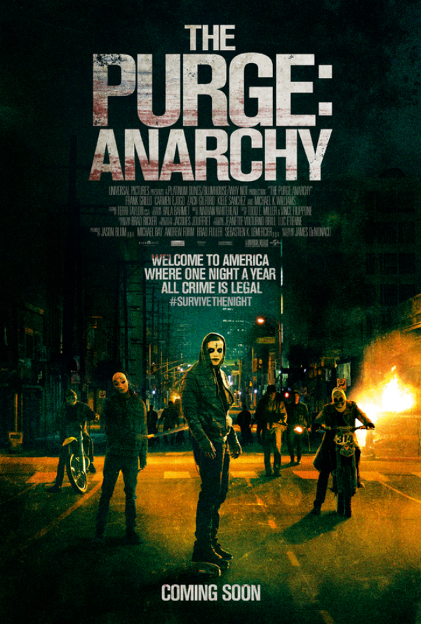 the purge anarchy movie poster The Purge: Anarchy Gives You A Chance To Breakout