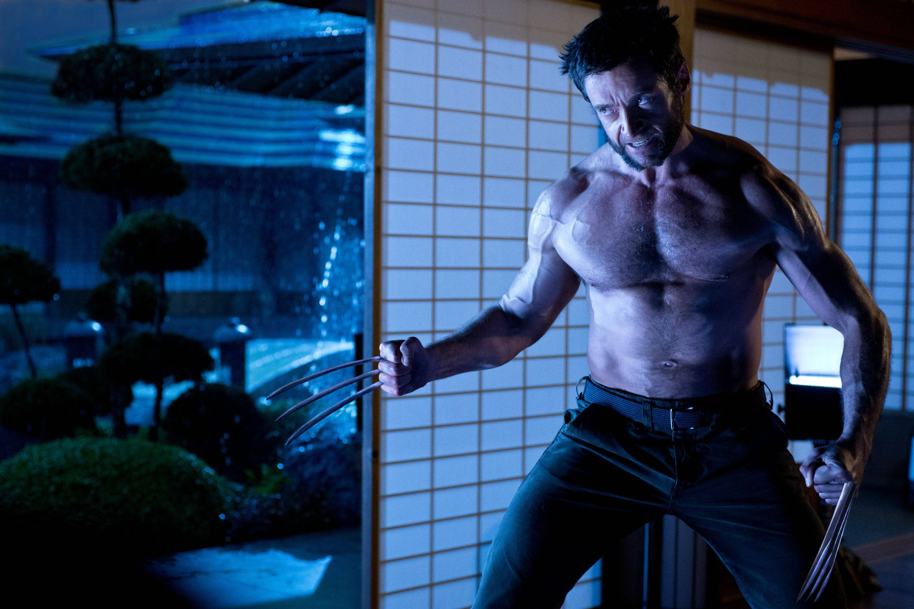 the wolverine badass blue shot Hugh Jackman Looks Badass In New Still from The Wolverine