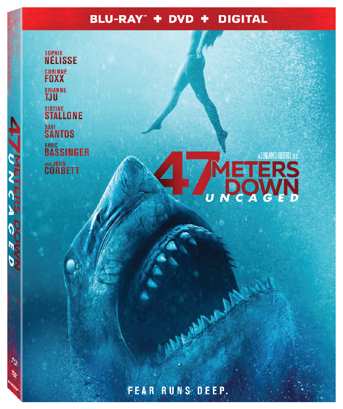 47 Meters Down Uncaged Blu-ray Cover