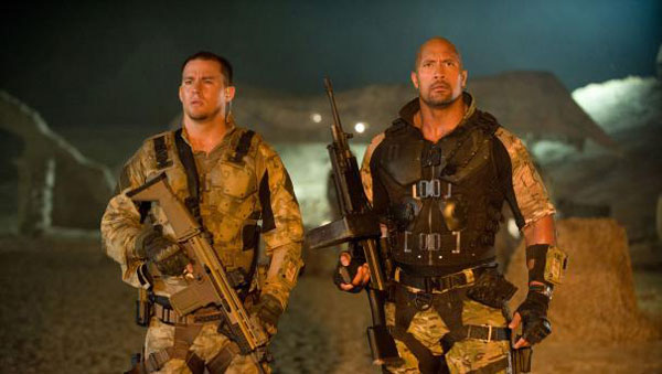 Channing Tatum and Dwayne Johnson in G.I. Joe: Retaliation