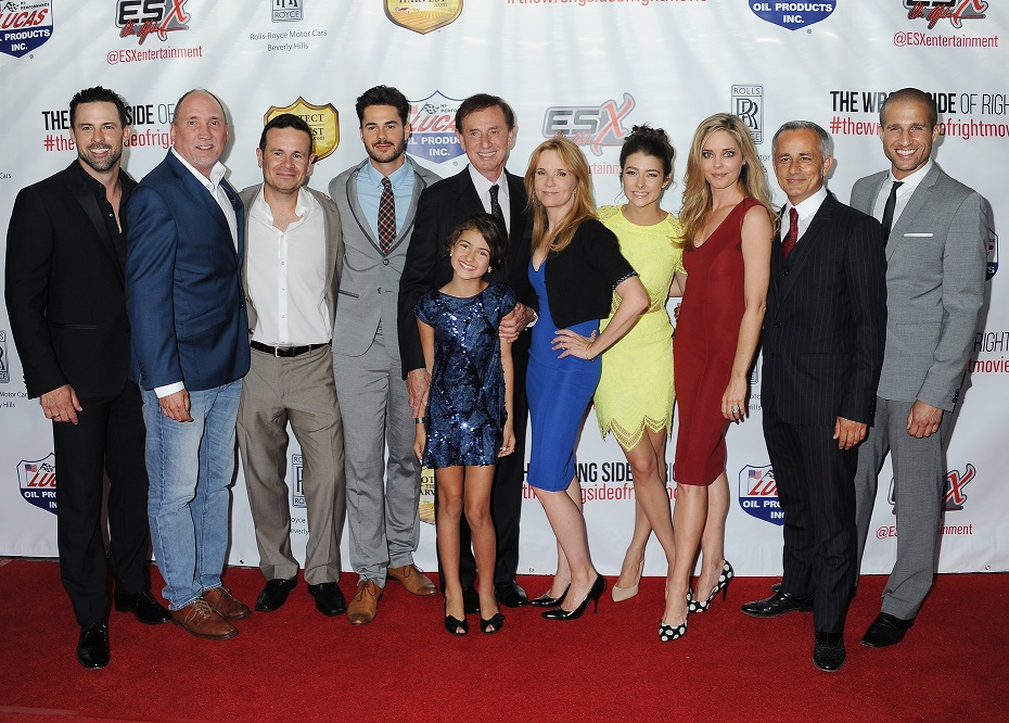 Wrong Side of Right screening-(L-R_ Philip Boyd, Cullen Douglas, Alex Ranarivelo, Jayson Blair, Forrest Lucas, Annabelle Kavanaugh, Lea Thompson, Allison Paige, Christina Moore, Ali Afshar, Michael King