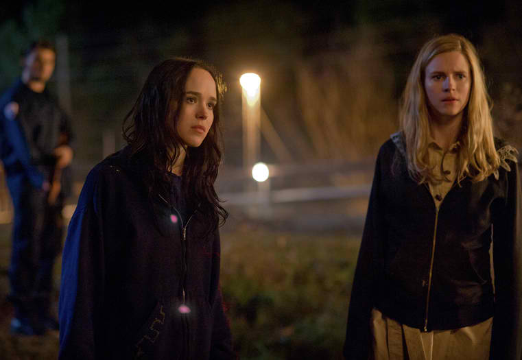 Ellen Page and Brit Marling in The East