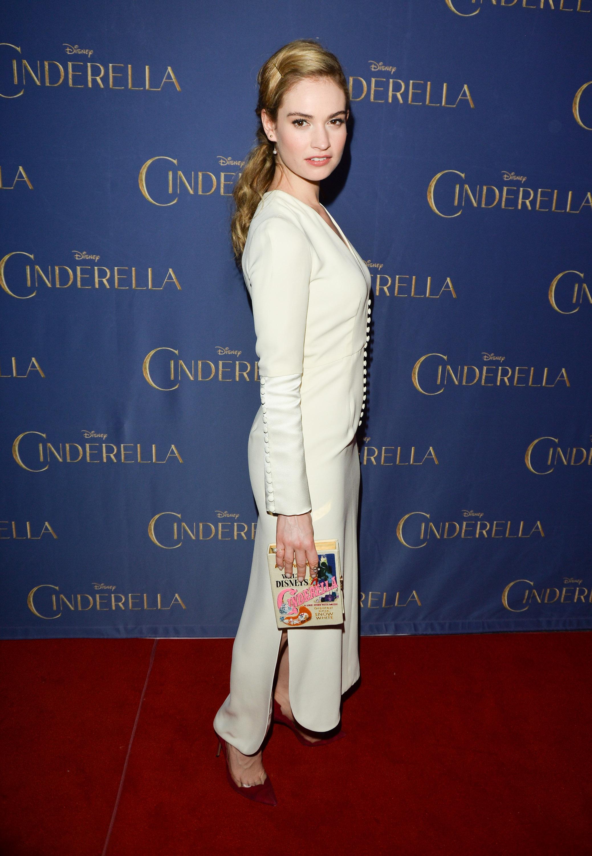 Lily James Promotes Cinderella in Toronto
