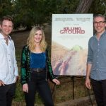 Killing Ground LA Premiere cast members Aaron Glenane, Harriet Dyer and filmmaker Damien Power