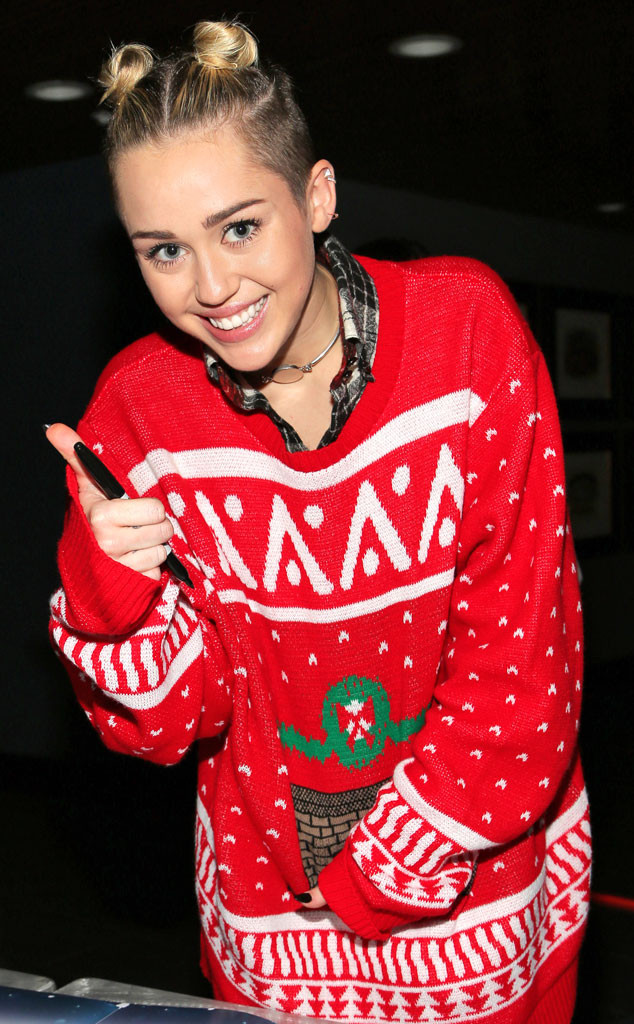 Miley Cyrus Christmas Sweater